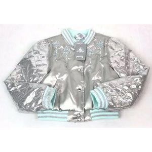 NWT Disney Frozen Elsa Varsity Jacket Cropped Fit
